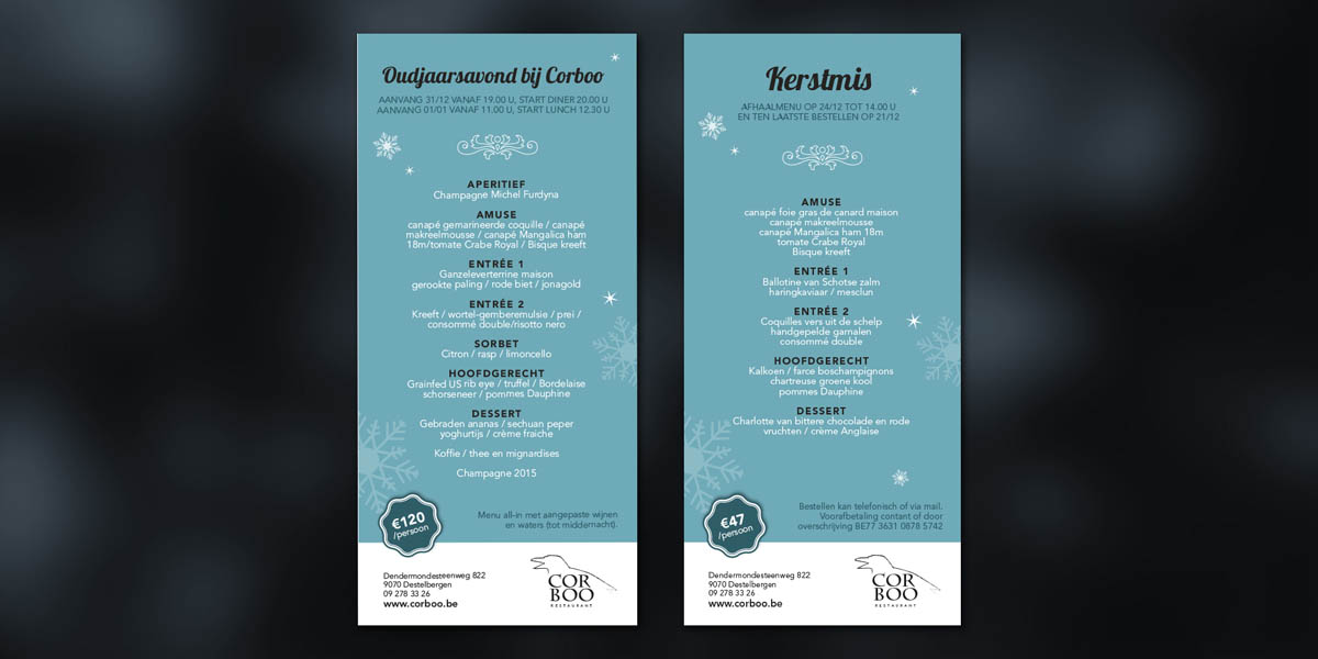 Horeca - menukaarten