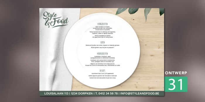 Placemats - Fresh plate