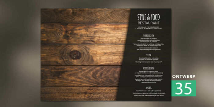 Placemats - Menu dark wood