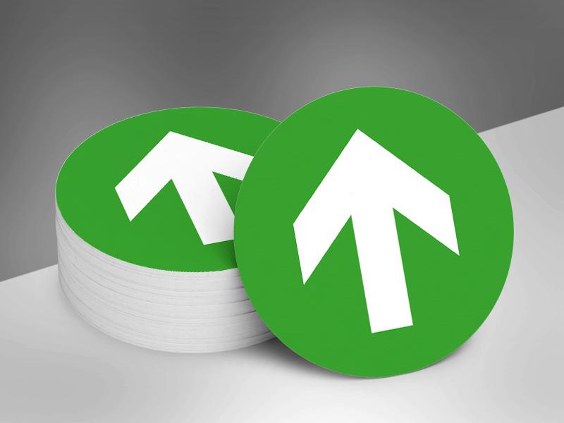 Vloerstickers rond pijlen _ groen