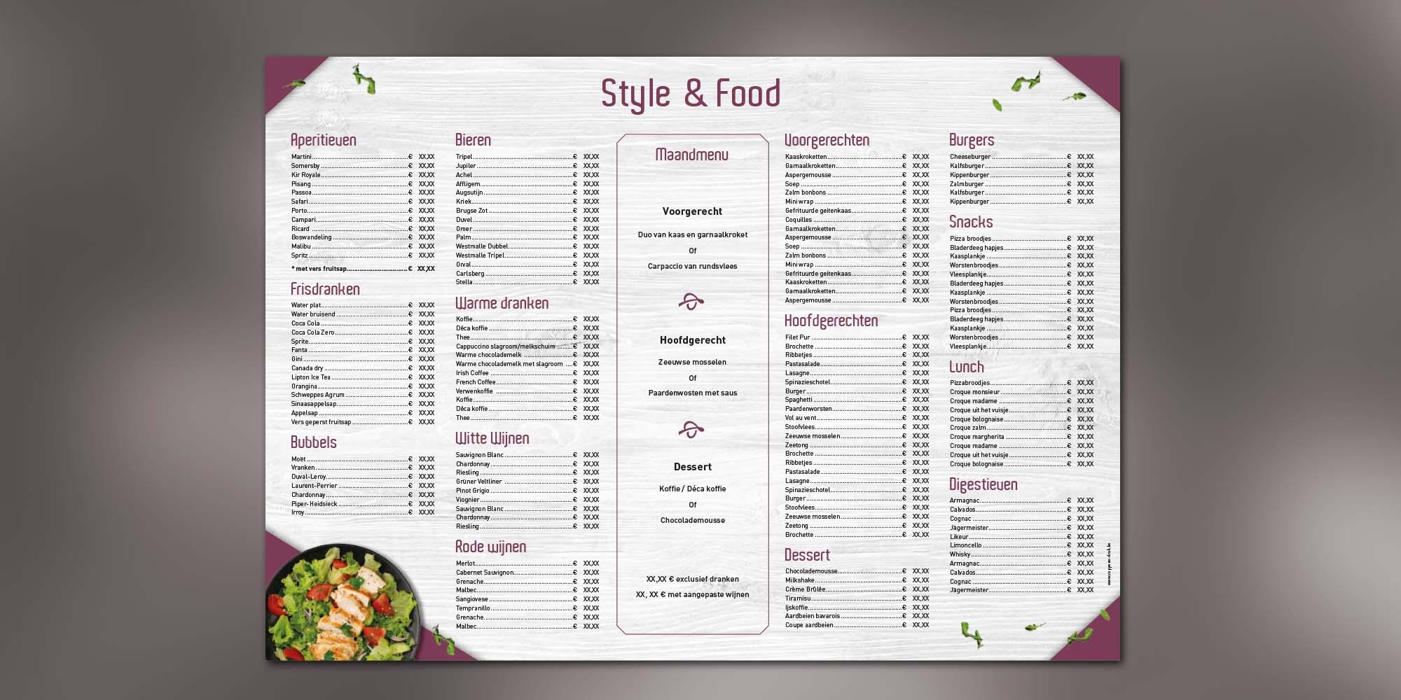 Placemat - Salad