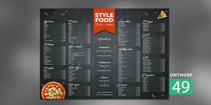 Placemat - italian food